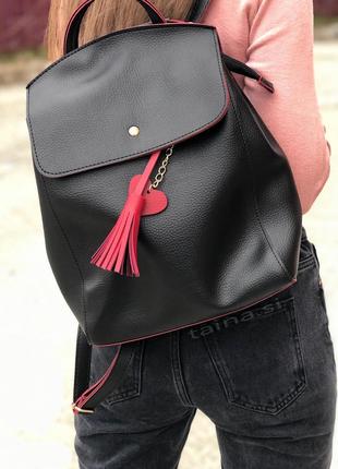 8 цветов! рюкзак сумка черный с красным городской рюкзачок вме...