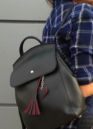 8 цветов! рюкзак сумка черный городской рюкзачок вместительный а4