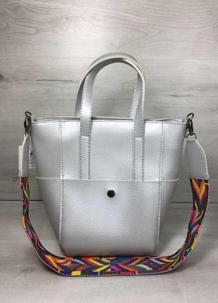 6 цветов! сумка широкий ремень серебро сумочка клатч на плечо