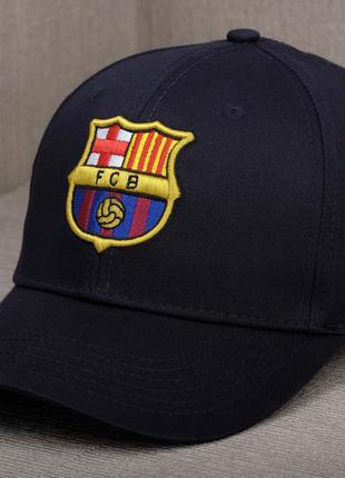 """Темно-синяя кепка fc barcelona / фк """"барселона"""""""