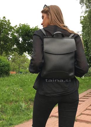 10 цветок! сумка рюкзак черный классический рюкзачок городской а4