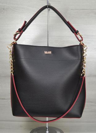 11 цветов! повседневная сумка черная с красным для школы учебы...