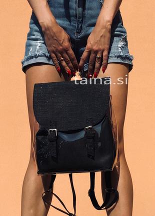 3 цвета! прозрачный рюкзак черный с косметичкой