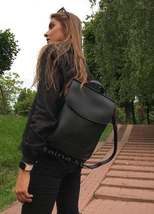 10 цветок! сумка рюкзак черный классический рюкзачок городской...