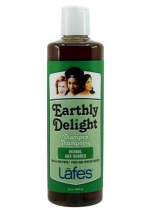 "Шампунь для волосся без сульфатів""Трав'яний""Lafe's EarthlyDelight"