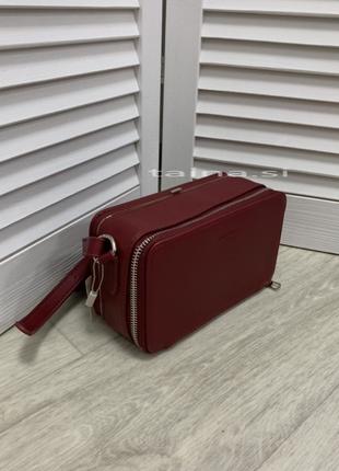 Клатч david jones 5805-3 красный бордо оригинал кросс боди на ...