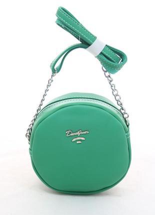 Клатч david jones 5969-2 green оригинал зеленый мини круглый к...