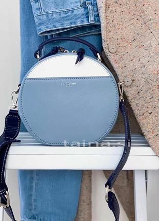 Клатч david jones 5916-1t l.blue оригинал голубой круглый сумк...