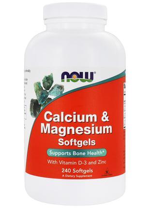 Now Foods, Кальций и магний с витамином D3 и цинком, 240 капсул