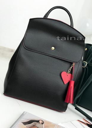 8 цветов! рюкзак сумка черный с красным городской рюкзачок тра...