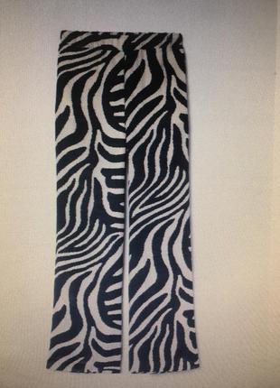 Штани h&m брюки палаццо трендовые зебра