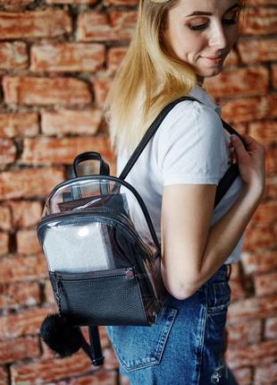 3 цвета! черный прозрачный рюкзак силиконовый рюкзачок
