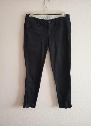 Штаны, брюки, черные, зауженные,классика,mango