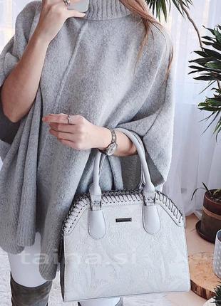 Женская сумка bht-925 light gray светло-серый