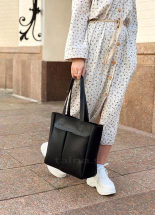 3 цвета! черная классическая сумка шоппер