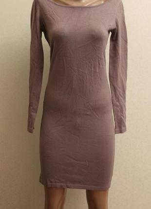 Новое,платье, трикотаж, лаванда,миди,капучино