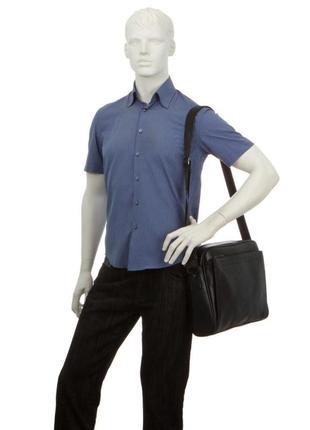 Мужская деловая черная сумка для документов портфель david jones