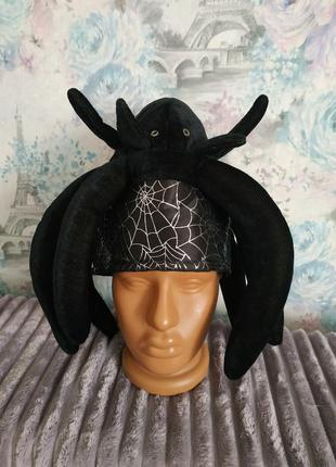 Карнавальная шапка паук паучиха хэллоуин