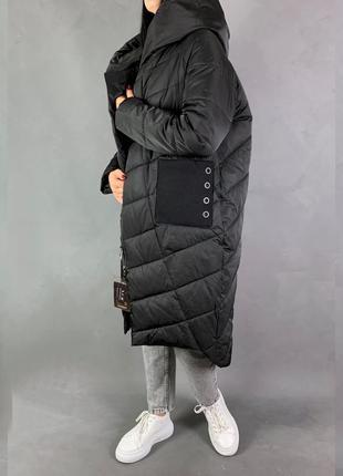 Пуховик одеяло кокон оверсайз объемная куртка макси зима
