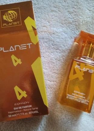 Unice,парфюмированная вода planet edp for women orange №4, 50мл