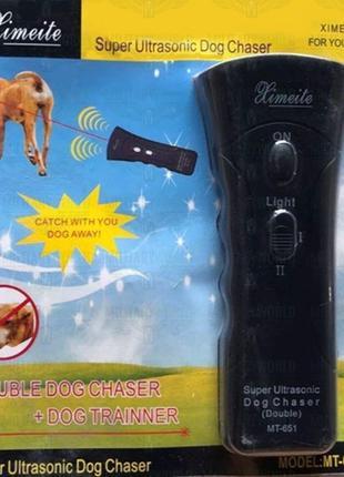 Ультразвуковий відлякувач собак super ultrasonic dog chaser mt651