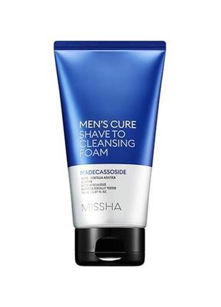 Пенка для умывания и бритья Missha Men's Cure Shave To Cleansing