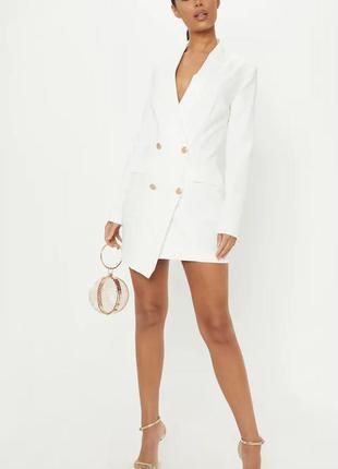 Платье пиджак блейзер с золотистыми пуговицами