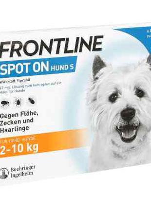 Frontline Spot 2-10 кг розчин для собак, піпетка (6шт)