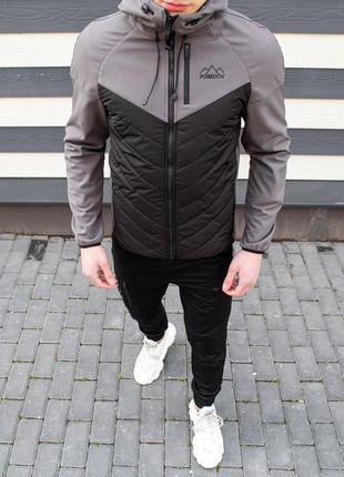 "Куртка pobedov jacket ""soft shell combi v2"" (вк(р)00130) чорно..."