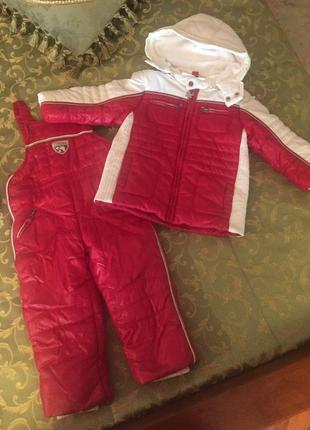 Зимний комплект курточка+комбез ф.chicco для ребенка 2/3лет,ид...