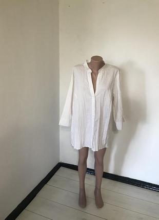 Белая блуза большого размера