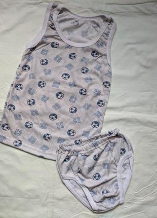 Детский комплект трусы и майка, нижнее белье для мальчика