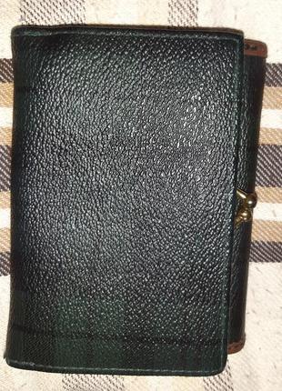 Сіро зелений гаманець еко шкіра