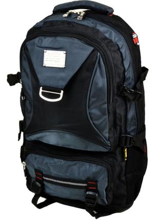 Рюкзак туристичний нейлон royal mountain 7916 black - blue