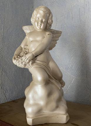 Статуэтка копилка ангел белая высокая 32см