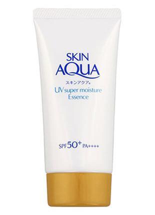 Санскрин rohto skin aqua uv super moisture essence spf 50 япония