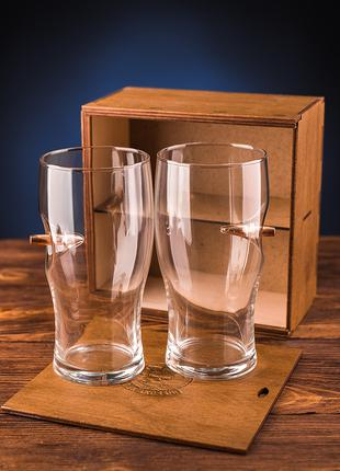 Набор 2-х пивных бокалов с пулей 7.62 мм