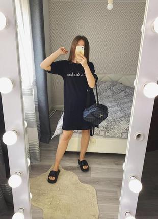 Новое черное платье футболка турция