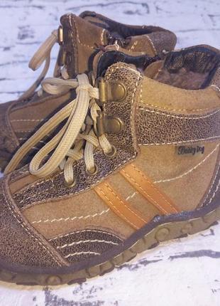 Очень теплые,натуральные зимние ботинки,сапоги.26-27 размер.