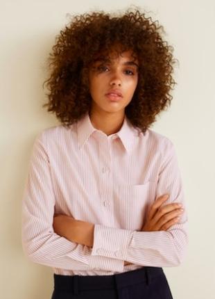 Рубашка женская в полоску классика mango shop