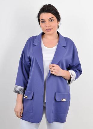 Размеры 50-64! модный пиджак жакет джинс, в размерах + большие!