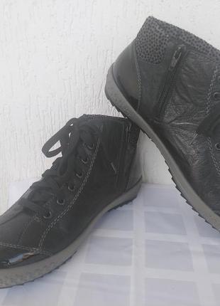 Ботинки,кеди кожанние rieker р. 42-42.5