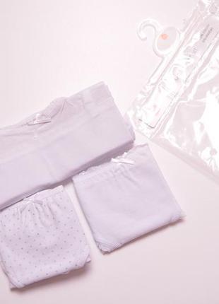 Шикарний сніжно-білий наборчик, сет майка и трусики для девочк...
