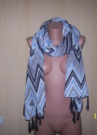 Лёгкий большой красивый шарф палантин