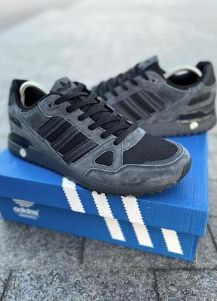 Кроссовки мужские adidas zx 750 серые / кросівки чоловічі адидас