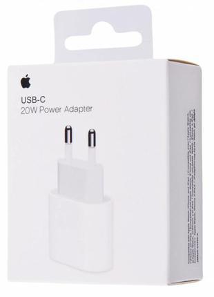 Зарядное Apple 20W USB-C Power Adapter сетевое Кабель iphone ipad