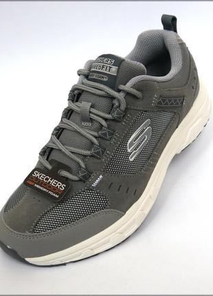 Skechers oak canyon oxford серые кроссовки туфли скечерс ориги...