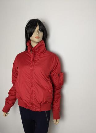 🔥🔥🔥 красная куртка типа бомбер спортивная mossiella l