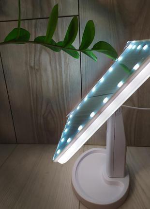 Настільне дзеркало для макіяжу led, підсвічуванням 22 світлодіода