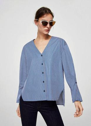 Блуза рубашка в полоску mango mango mango